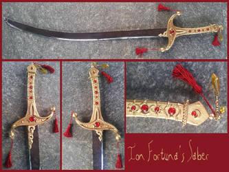 TRINITY BLOOD - Ion Fortuna's saber by AridelaAriadne