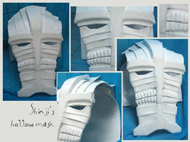 BLEACH - Shinji's hollw mask by AridelaAriadne