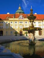 Austria - Fountain in Melk by AgiVega