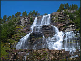 Norway -Waterfall of My Dreams by AgiVega