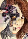 Gridded Self Portrait by Beautiful-Beasties