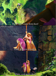 Jack and Rapunzel by jellybreaker