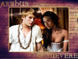 Arthur and Guinevere by Viviou