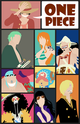 One Piece Minimalist Poster: The 9 Pirates by MinimallyOnePiece