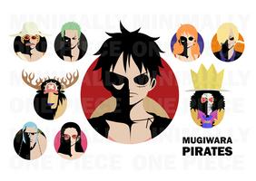 One Piece Minimalist Poster: Mugiwara Pirates by MinimallyOnePiece