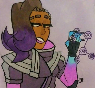 [OW]: hacker lady by mapleBOOM