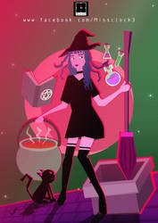 The little witch in the night. by Missclock3