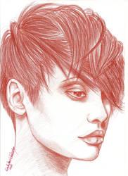 portrait in red by DorotaAnnaSztabinska