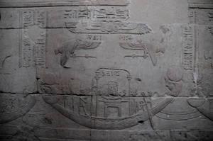Horus Boat and Hieroglyphics by AndySerrano