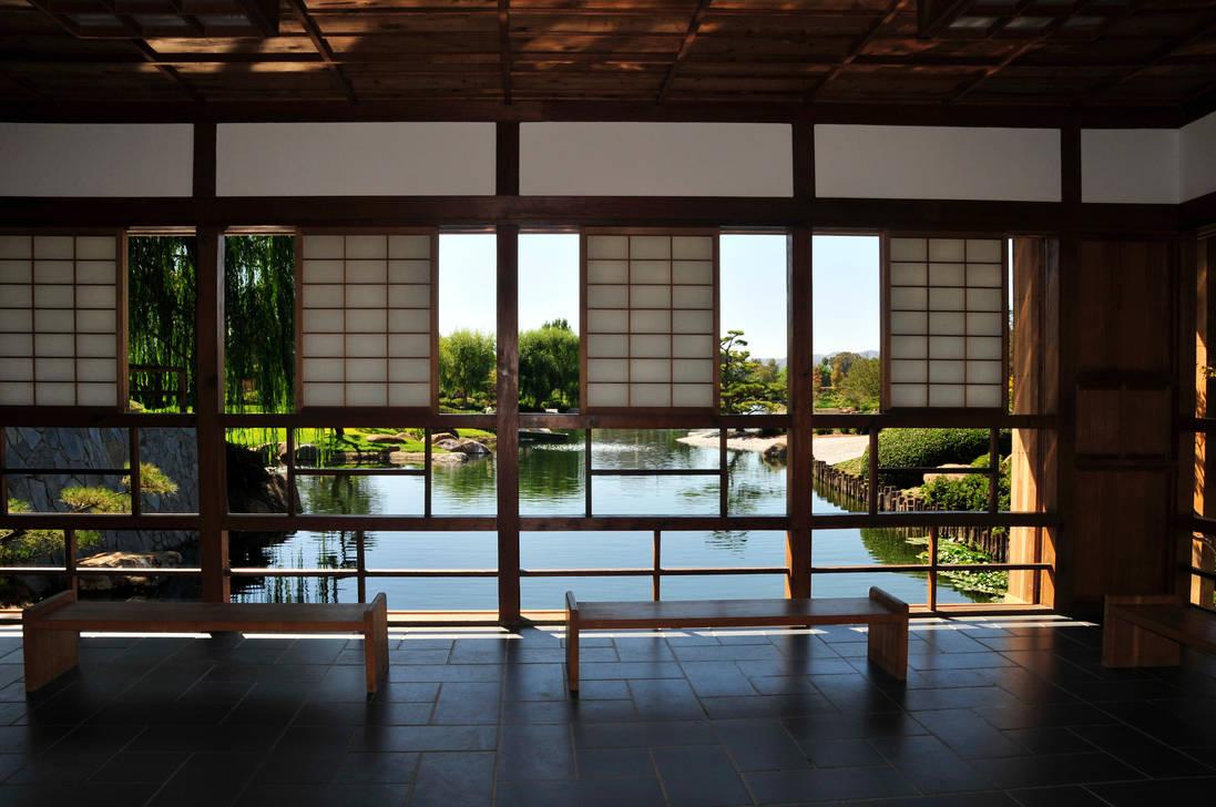 Lakeside Japanese Teahouse by AndySerrano