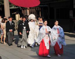 Wedding at Meiji Jingu Shrine 3 by AndySerrano