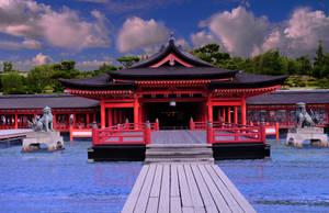 Itsukushima Shrine at High Tide by AndySerrano