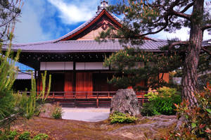 Hojo building at Kinkakuji by AndySerrano