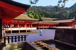Floating Monk at Itsukushima Shrine by AndySerrano