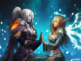 WorldofWarcraft couple by Dixneuf84