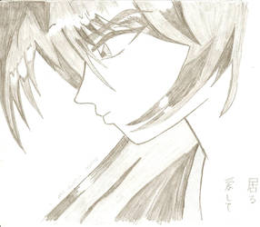 Kenshin Himura ..just pencil.. by Bbashya