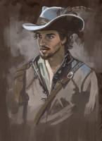 Speedpainting5 Aramis (Santiago Cabrera) by rebelakemi