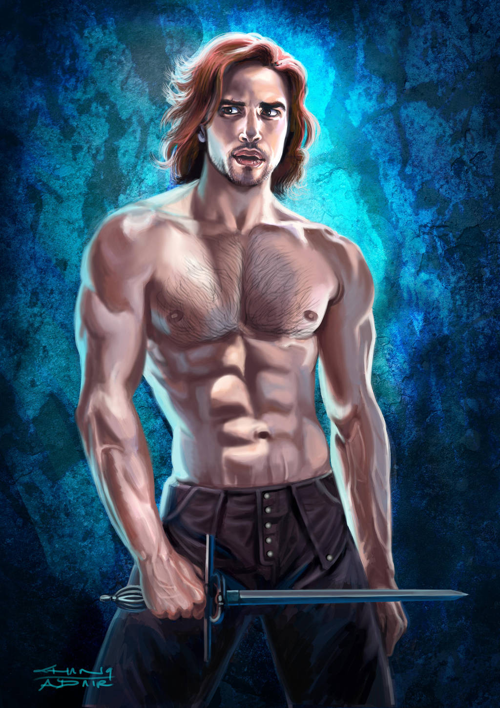 Luke Pasqualino D'Artagnan Edge Light study by rebelakemi