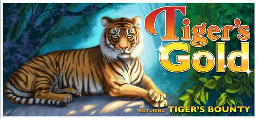 Tigers Gold Slot Machine Art by rebelakemi