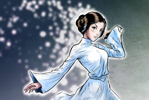 Princess Leia Ghost - Star Wars by AnthonyGonzalesClark