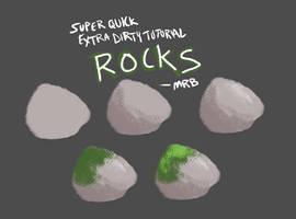 Super Quick Extra Dirty Tutorial: Rocks by saltwaterhermit