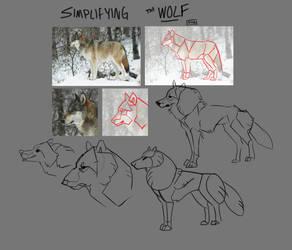 Simplifying The Wolf by saltwaterhermit