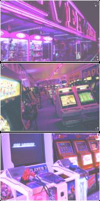 Arcade At Nite .:ftu:. by AllyRat
