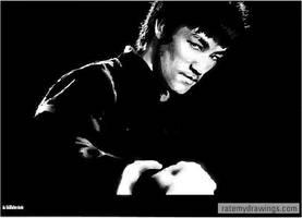 Bruce Lee by daGodfatherdude