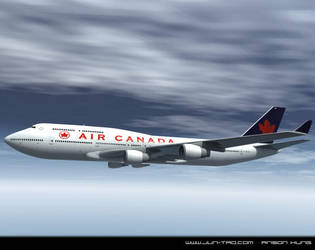air canada 747 by juntao
