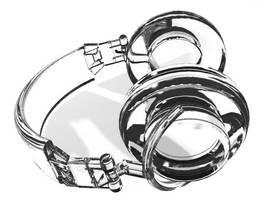 Glass headphones by juntao