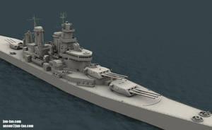 USS Missouri WIP by juntao