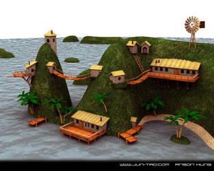 Island  WIP update by juntao