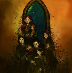 Feanor and his family by aegeri