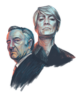 Frank and Claire Underwood by barelt1