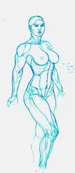Alina Blue Line by MrPlaid81