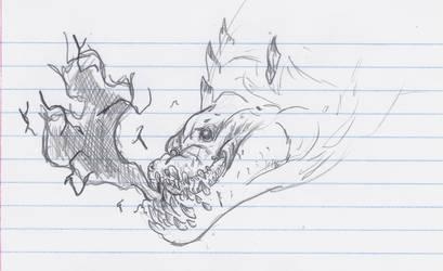 Dragon Breath Sketch by MatrixDragondavid