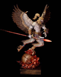 Garuda on Flaming Skull by sivousplay