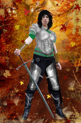 Autumn Warrior by Xirene