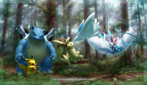 Commission: Poketeam | Wooded Serenity by JA-punkster
