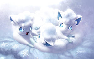 Frosty foxes by JA-punkster