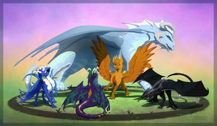 Commission: Kudo's Flock by JA-punkster