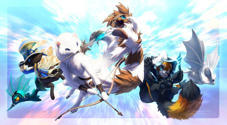 Commission: Power team by JA-punkster