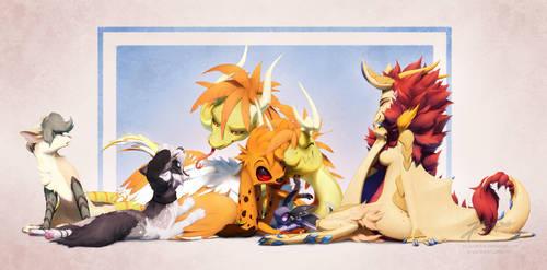 Commission: Fabi's OC family by JA-punkster