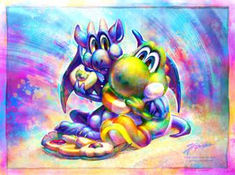 Commission: Cookie break! by JA-punkster