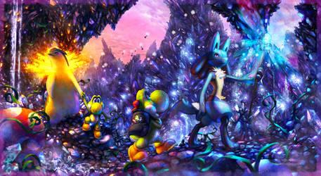 Commission: Cavern exploring by JA-punkster