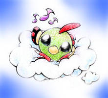 Natu on a cloud by JA-punkster