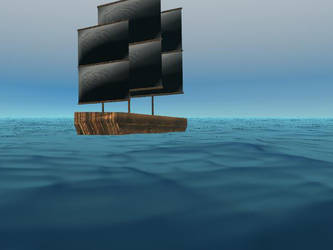 Ship at sea by StalkerInTheShadows