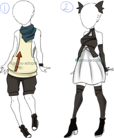 [CLOSED] Outfit Adopt 1 and 2 by Kaidou-adopts