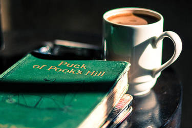 Some coffee and a book by anna-earwen