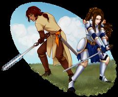Commission: Echo and Hrodland by jeinu